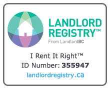 Landlord Registry from LandlordBC - I Rent It Right™ ID Number 355947